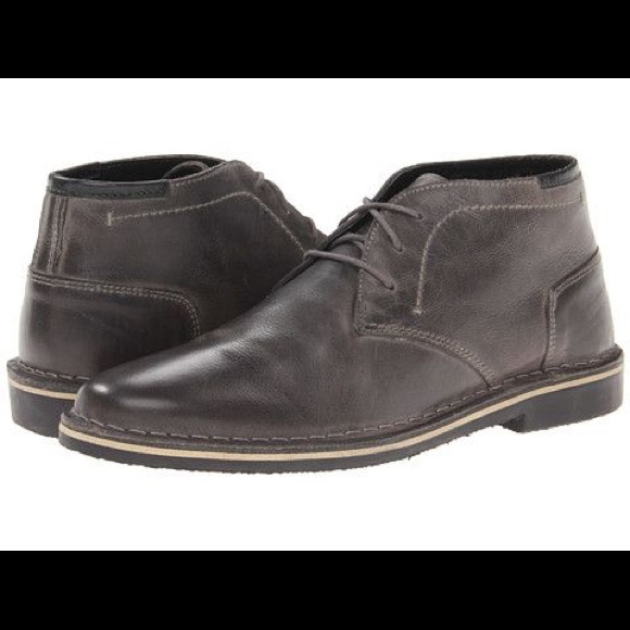 952dbe2a76a Men's Steve Madden Heston's Grey Leather Shoes